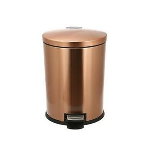 10.5 Gallon Oval Copper Finish Stainless Steel Waste Trash Garbage Can Kitchen for Sale in Fort Lauderdale, FL