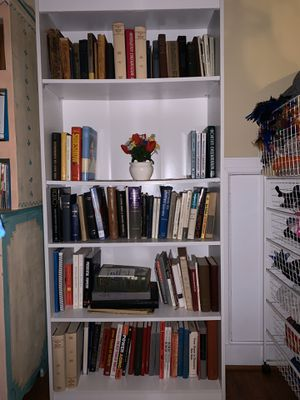 8 MATCHING WHITE: 7 BOOKCASES + 1 ETAGERE for Sale in Lansdowne, VA