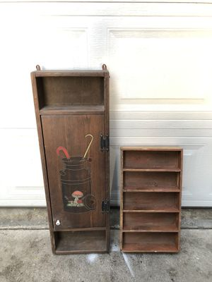 Old Vintage Kitchen Wall Hanging Spice Cabinets for Sale in Fresno, CA