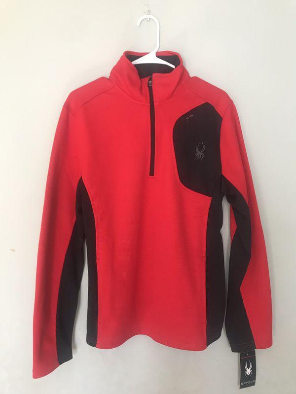 Spyder Men's Half-Zip Jacket (Red Racing)