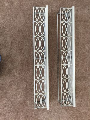 Set of 2 metal and marble wall hanging shelves for Sale in Woodbridge, VA