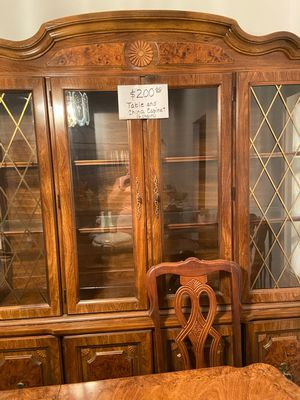 Table with 6 Chairs and China Cabinet for Sale in Palm Bay, FL
