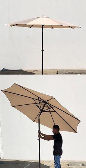 (NEW) $40 each Outdoor 9ft Patio Umbrella Aluminum Sun Shade w/ Tilt Crank for Sale in South El Monte, CA