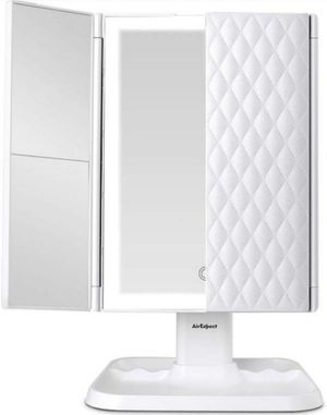 Makeup Mirror Vanity Mirror with Lights - 3 Color Lighting Modes 72 LED Trifold Mirror for Sale in Fontana, CA