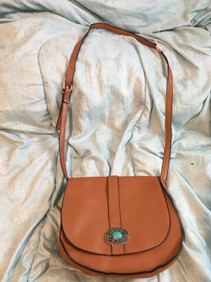 Tan and turquoise detail crossbody for Sale in Columbus, OH