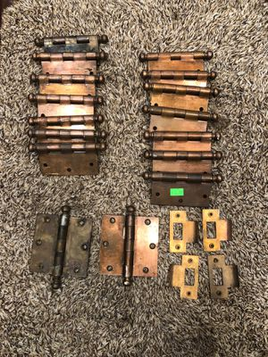 16 real vintage copper hinges and 4 door pieces for Sale in Los Angeles, CA