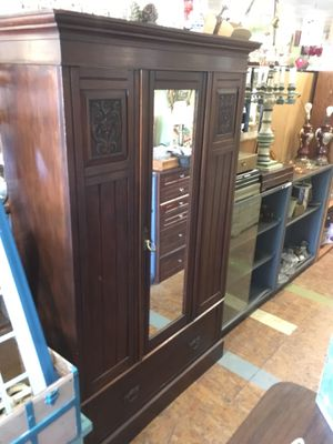 "Antique armoire solid wood it's $299 firm price measures 46 x 19 x 78"" for Sale in San Diego, CA"