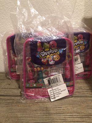 Shopkins Back Pack cosmetic set (3 total ) for Sale in Palmdale, CA