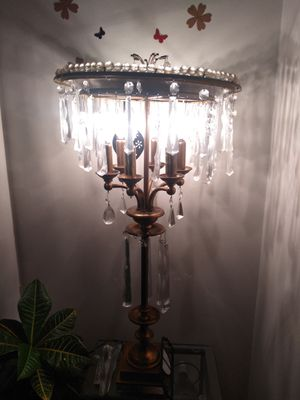 Brass and Crystal Lamp for Sale in West Bloomfield Township, MI