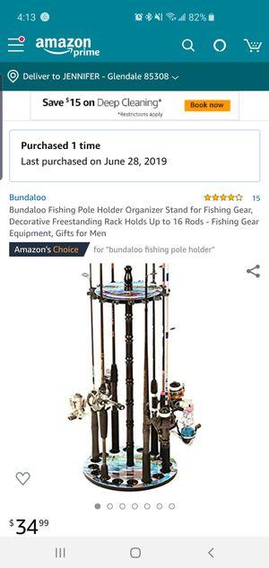 Wooden fishing pole holder for Sale in Phoenix, AZ