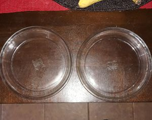 """Vintage set of 2 Pyrex clear 9"""" pie cookware for Sale in Warwick, RI"""