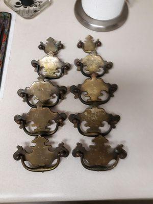 Antique dresser drop pulls bronze for Sale in Wayne, NJ