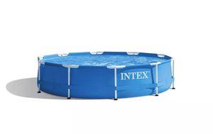 10 foot x 30in swimming pool Intex Metal Frame for Sale in Alexandria, VA