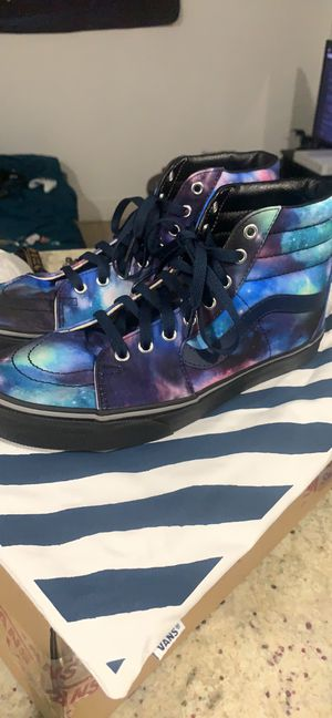 """Vans Custom Sk8 High """"Cosmic Galaxy"""" 9.5 men's brand new with dust bag and box for Sale in Naples, FL"""