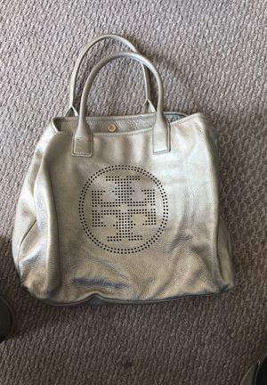 Gold Tori Burch bag tote big size bag for Sale in Chicago, IL