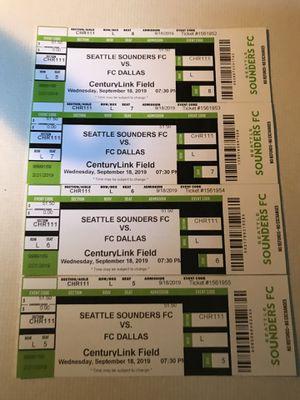 Sounder tickets for Sale in Auburn, WA