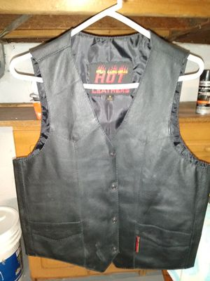 Motorcycle leather vests for Sale in Niles, OH