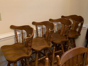 Stunning vintage captains chairs/bar stools for Sale in Cary, NC