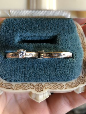 14K yellow gold wedding engagement promise set ring natural diamonds VS clarity for Sale in Clovis, CA