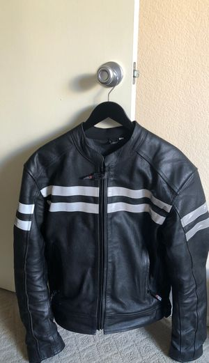 Motorcycle Leather Jacket (Size L) with inner lining for Sale in Los Angeles, CA
