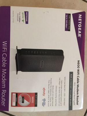 Netgear n600 WiFi cable modem router for Sale in Riviera Beach, FL