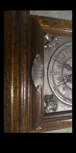 Antique looking shelf clock has 1865 plate on front. Clock will works and runs off one AA battery for Sale in Olympia, WA
