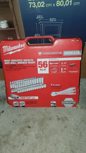 Milwaukee 56 piece brand new in box 3/8 metric and sae ratchet and socket set for Sale in Auburn, WA