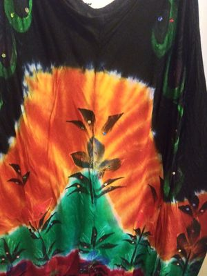 One-size-fits-all women's hippie dress hand-painted for Sale in Fort Wayne, IN