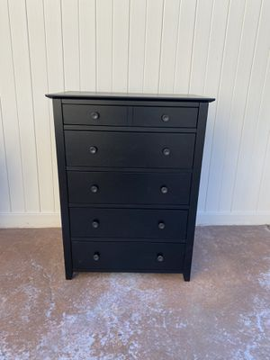 Chest of Drawers, Classic 5-Drawer Dresser with Solid Wood Frame, Pre-Installed Slide Rail, L 28.3 H 37.8 D17.7 for Sale in Corona, CA