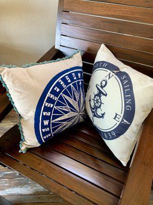 Decorative Nautical/Beach Themed Pillows for Sale in Rocklin, CA