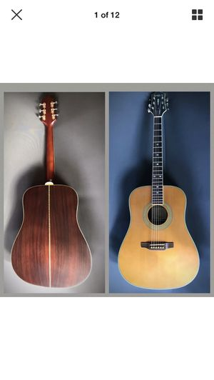 Masterbuilt DR-500R Epiphone Solid Spruce/ Rosewood acoustic Guitar W Hard Case for Sale in Oceanside, CA