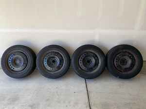 235/60/R18 Bridgestone Blizzak DM-V1 Snow Tires and 18x7.5, 5x110 Steel Wheels - Jeep Cherokee for Sale in Cranberry Township, PA