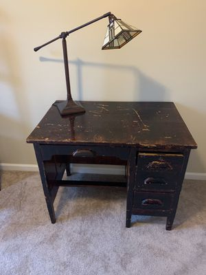 Antique brown desk. for Sale in Raleigh, NC