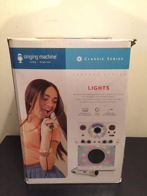 Brand New Karaoke Singing Machine with Lights for Sale in Farmville, VA