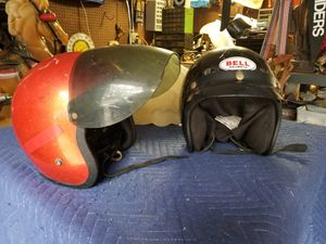 2x Vintage 1970's Motorcycle Helmets for Sale in Lake Forest, CA
