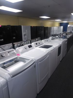 LG new scratch and dent electric top load set washer and dryer 6months warranty for Sale in McDonogh, MD