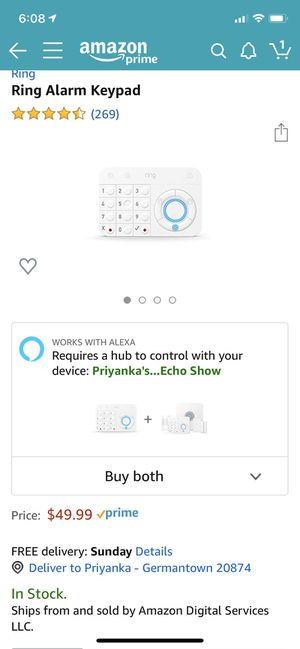 Ring alarm keypad for Sale in Germantown, MD
