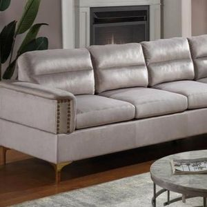 Vogue sectional sofa silver for Sale in Houston, TX