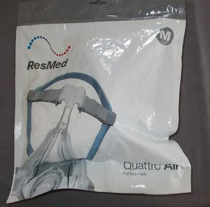 NEW MED Resmed Quattro Air Full Face Mask Headgear Cushion #62702 Sealed for Sale in Oceanside, CA
