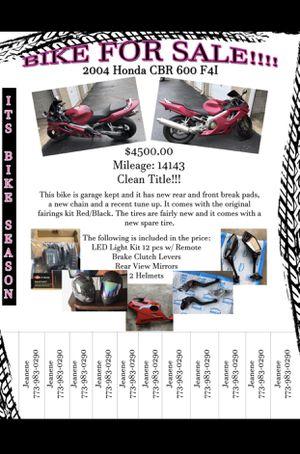 2004 Honda CBR 600 f4i for Sale in Calumet City, IL
