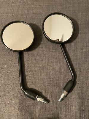 "Honda GROM 125 Motorcycle 7/8"" Bar Rearview Side Mirrors Black Round for Sale in Morrow, GA"