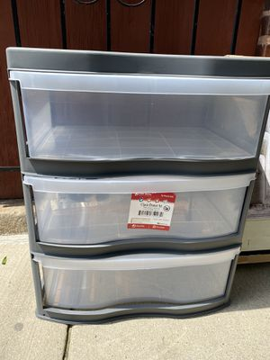 Plastic 3 Drawer Rolling wheeled organizer for Sale in Chicago, IL