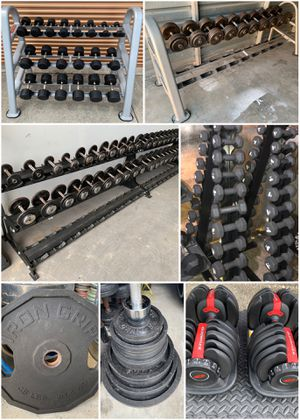 Tons Of Metal, Rubber, Urethane & Adjustable Dumbbells Available. Olympic Weight Plates & Barbells for Sale in Davenport, FL