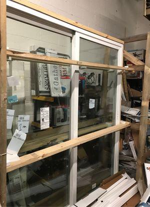 Reliabilt clear glass white vinyl double door slide for Sale in Snellville, GA