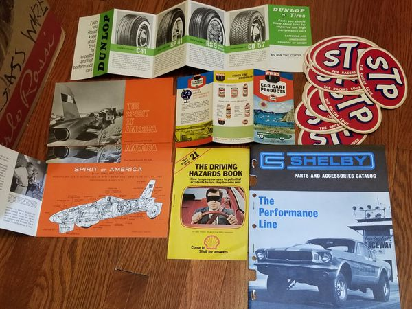 Selling large amounts of automotive memorabilia- patchs, stickers, magazines, sale brochures, ticket stubs, programs, newspaper articles, etc