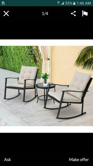 Rocking chair outdoor patio furniture patio set patio furniture patio set for Sale in Perris, CA