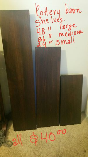 3 Potter y barn wall shelves for Sale in Raleigh, NC