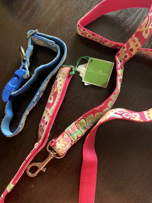 Vera Bradley Dog collar and leash for Sale in Charlotte, NC