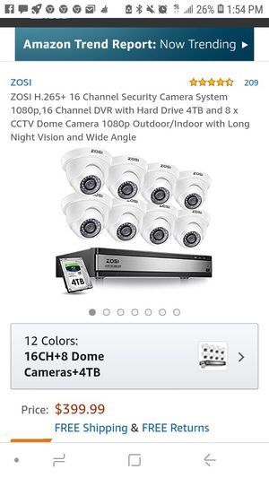 Zosi 8 Camara DVR security system for Sale in West Palm Beach, FL