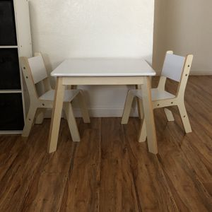Kids table with 2 matching chairs for Sale in Manteca, CA